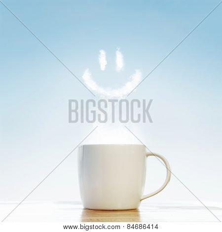 Coffee Cup With Smile Symbol