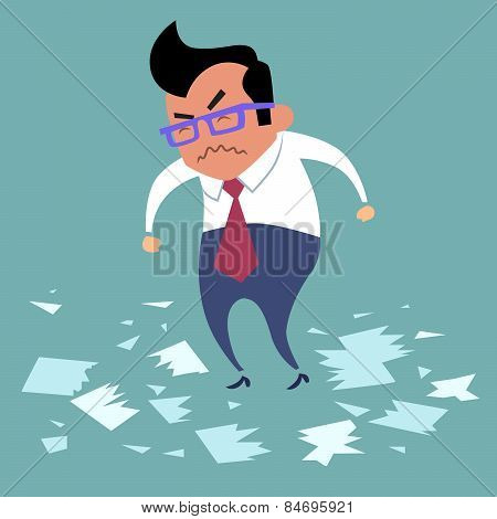 Businessman Angry Office Work Boss