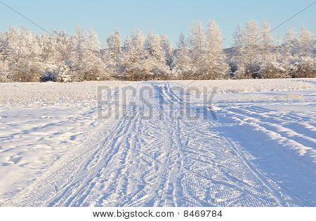 Multiple Use Recreation Trail during Alaska Winter