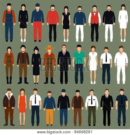 vector cartoon people,