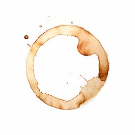 Coffee Cup Rings On A White Background