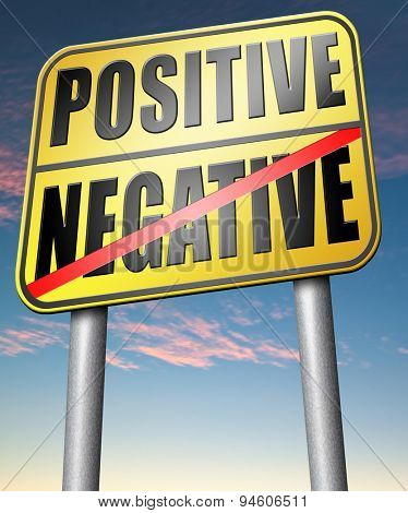 positive or negative optimism or pessimism bright side of life positivity and no negativity