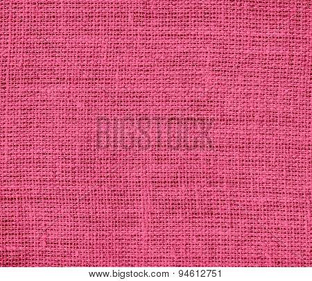 Dark pink burlap texture background