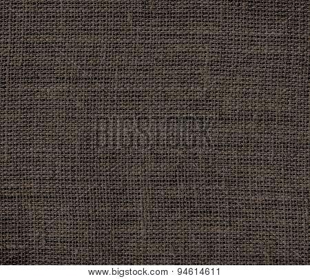 Dark taupe burlap texture background
