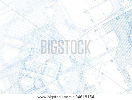 Architecture design: blueprint - house plans illustration