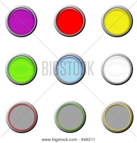 Set Glass Buttons