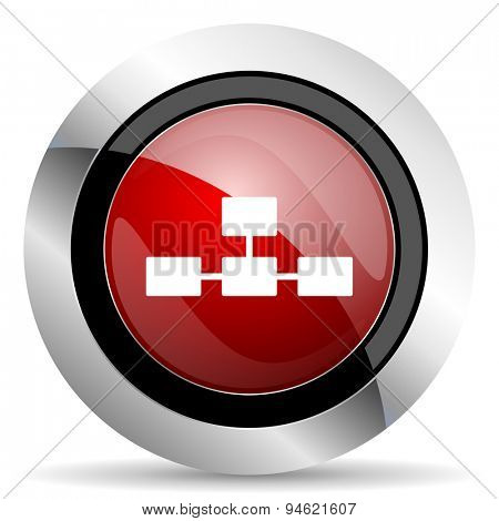database red glossy web icon original modern design for web and mobile app on white background