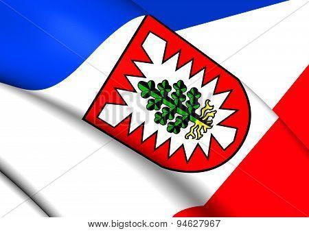 Flag Of Pinneberg, Germany.