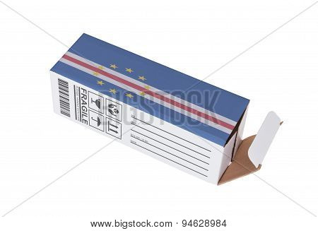 Concept of export opened paper box - Product of Cape Verde poster