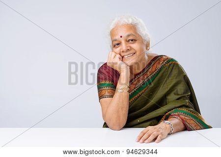 Indian Woman In Sari