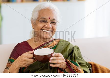 Cheerful Indian Lady