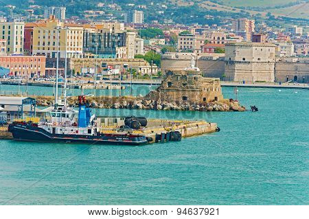 Harbour In Civitavecchia, Italy