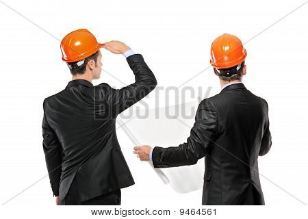 Image Of Foremen Interacting Together At Meeting