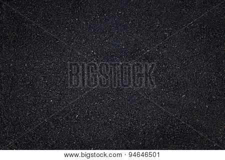 Closeup Black Soil Texture Background
