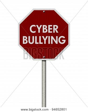 Stop Cyber Bullying Road Sign