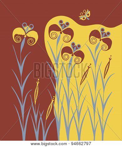 Lilies Ancient Minoan Fresco