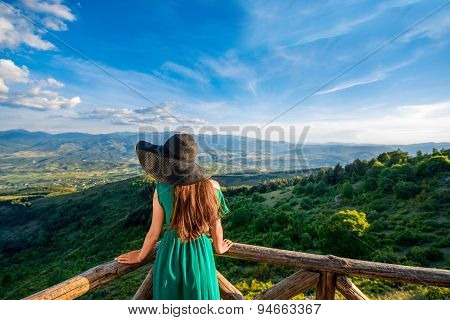 Beautiful mountain landscape view from the terrace