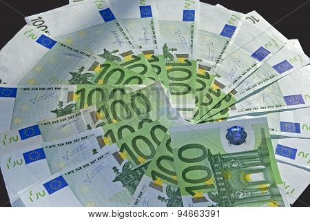 Lots of money cash 100 euro bills poster
