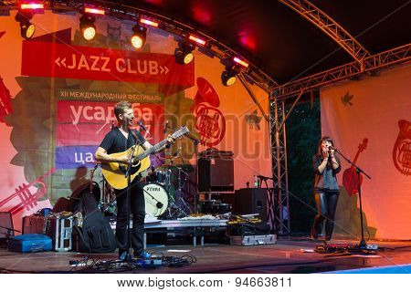 MOSCOW - JUNE 20: TRAD ATTACK! group performs at XII International Jazz Festival