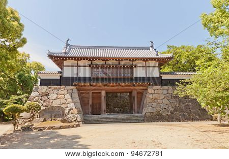 Yaguramon Style Gate Of Kawanoe Castle, Shikokuchuo, Japan