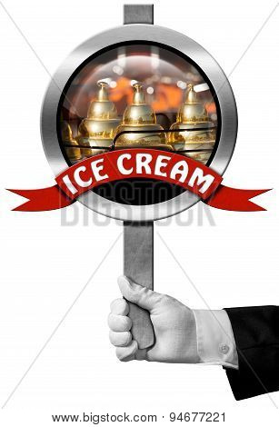 Ice Cream - Sign With Hand Of Chef