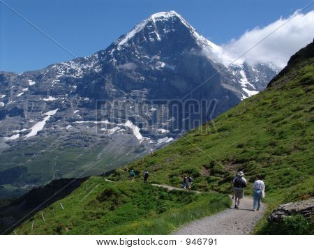 Hiking In The Shadow Of The Mighty Eiger