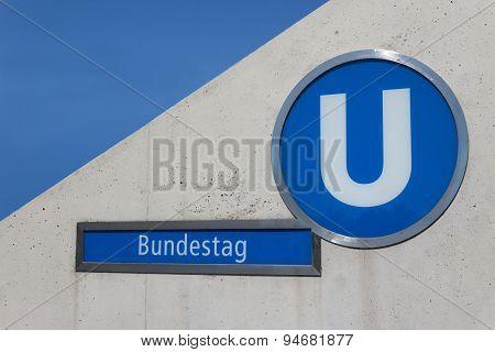 Bundestag ,subway train station in berlin