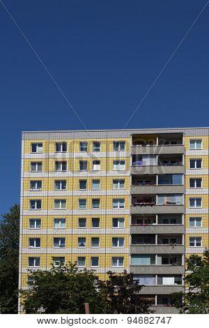 plattenbau - residential building facade, berlin