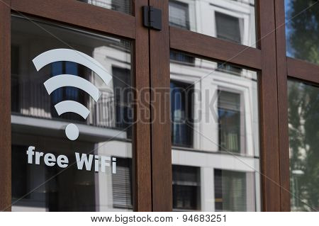 Free wifi - public internet connection symbol