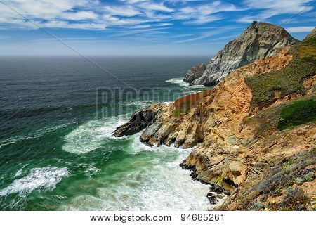 A Beautiful View of the California Coastline near San Francisco