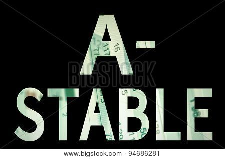 A- stable