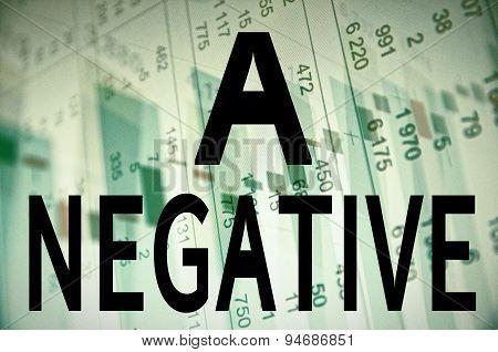 A negative