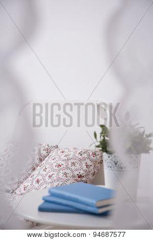 Books On Bedside Cabinet