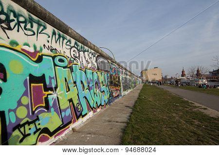 berlin wall , graffiti, east side gallery