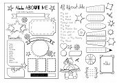 Back to School. All About Me questionnaire. Printable poster