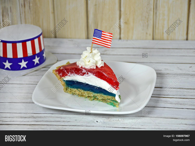 American Flag On Jello Image Photo Free Trial Bigstock