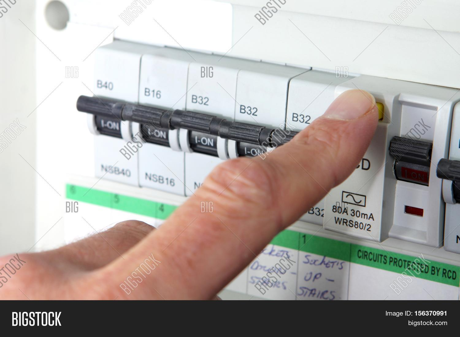 testing rcd (residual image \u0026 photo (free trial) bigstocktesting an rcd (residual current device) on a uk domestic electrical consumer unit or