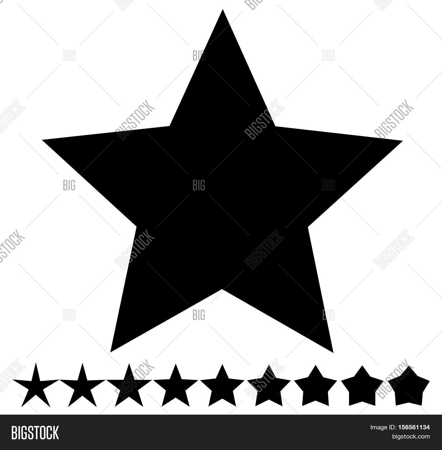 Star Shape Thin Thick Vector Photo Free Trial Bigstock