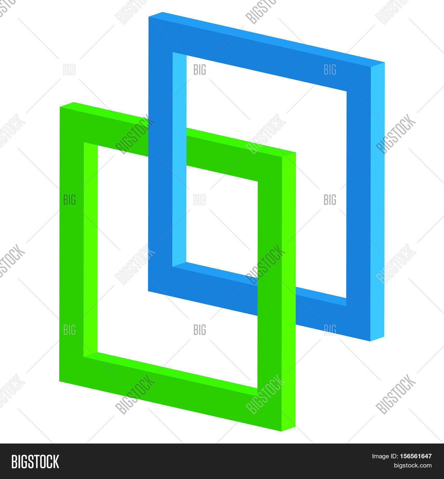 3D Interlocking Vector & Photo (Free Trial) | Bigstock