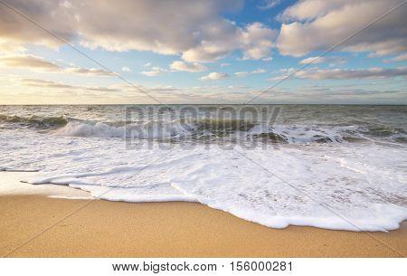 Beautiful wave seascape. Nature composition.