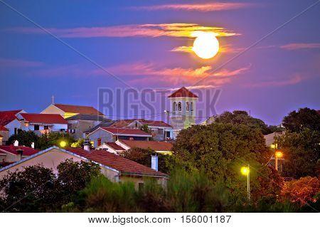 Zadar Bokanjac suburb night view Dalmatia Croatia