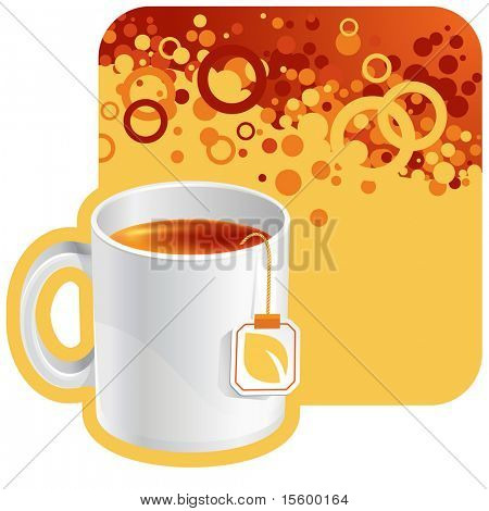 vector tea background for your promotion