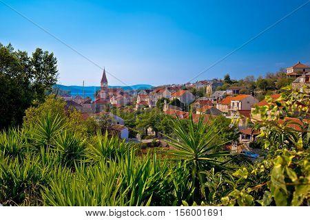 Town of Milna coast view Island of Brac Dalmatia Croatia