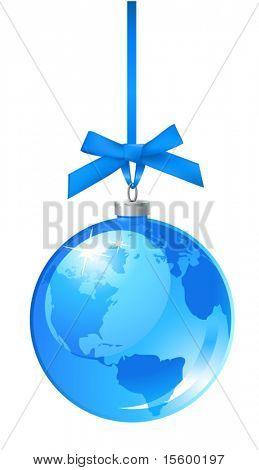 vektor weihnachten Kugel-Symbol
