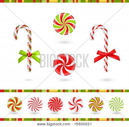 christmas candies set (vector)