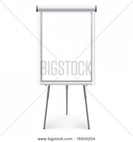blank  presentation board