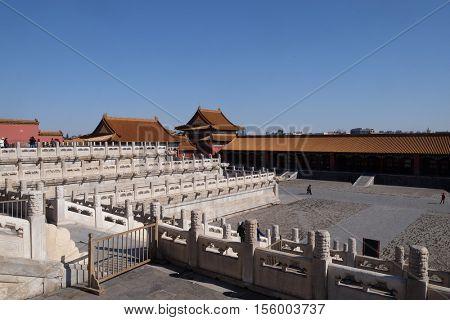 BEIJING - FEBRUARY 23:  Palace of Heavenly Purity Qianqinggong in Forrbiden city, Beijing, China, February 23, 2016.