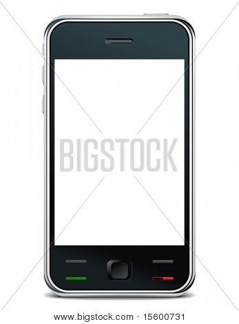 vector smart phone poster