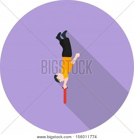Circus, ringmaster, acrobat icon vector image. Can also be used for circus. Suitable for use on web apps, mobile apps and print media.