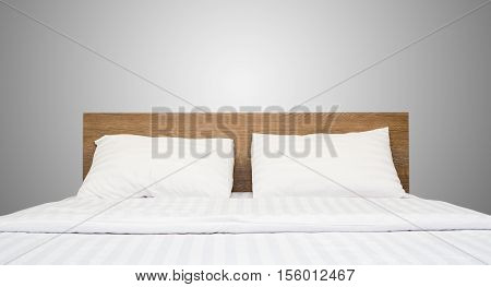 white bedding and pillow in hotel room, bed in hotel, pillows on the bed, pillows white color, modern bed, modern hotel,